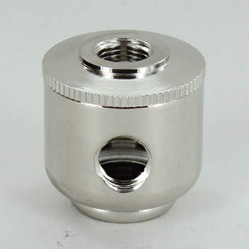 2 X 1/8ips. Side Hole - 1/4 ips. Bottom - Small Cluster Body - Nickel Plated