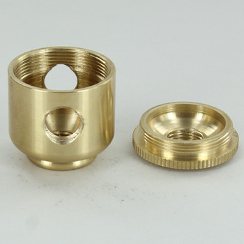 2 X 1/8ips. Side Holes - 1/8ips. Bottom - Small Cluster Body - Unfinished Brass
