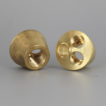 3 Hole 1/8ips Y-Type Cluster Body with 1/4 ips. Bottom - Unfinished Brass