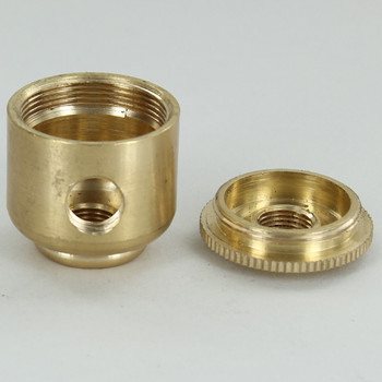 1 x  1/8ips. Side Hole - 1/8ips Bottom - Small Cluster Body - Unfinished Brass