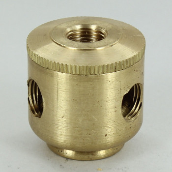 4 X 1/8ips. Side Holes - 1/8ips bottom - Small Cluster Body - Unfinished Brass