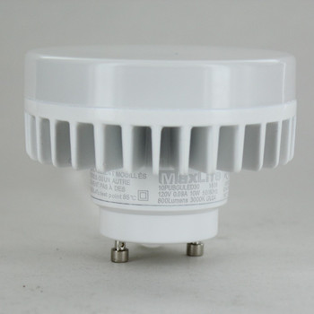 LED Ceiling Keyless Lampholder with GU24 LED Lamp and Guard - White