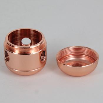 3 X 1/8ips. Side Holes - 1/4ips Bottom - Large Cluster Body - Polished Copper Finish