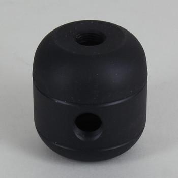 2 X 1/8ips. Side Holes - 1/4ips Bottom - Large Cluster Body - Black Powder Coated Finish