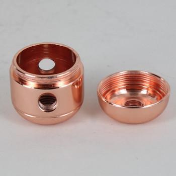 2 X 1/8ips. Side Holes - 1/4ips Bottom - Large Cluster Body - Polished Copper Finish