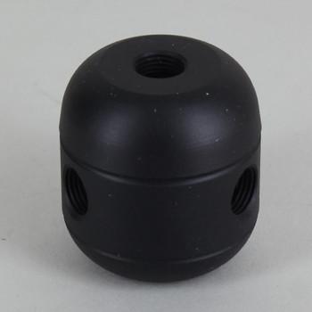 3 X 1/8ips. Side Holes - 1/4ips Bottom - Large Cluster Body - Black Powder Coated Finish