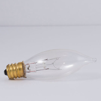 10W Clear E-12 Base 20mm. Flame Tip Bulb