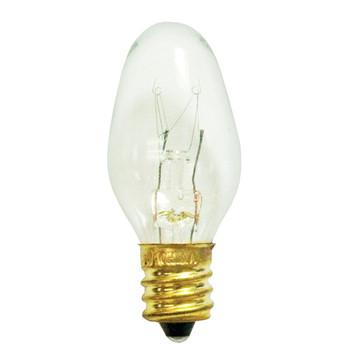 4W Clear E-12 Base Night Light Bulb