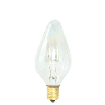 15W Clear E-12 Base Flame Bulb