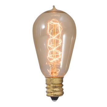 25W Mini Spiral Filament E-12 Base Antique Style Bulb