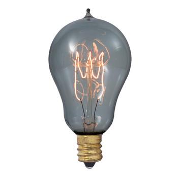 25W Mini Loop Filament E-12 Base Antique Smoked Style Bulb