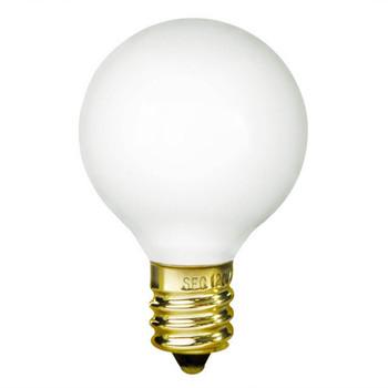 25W White E-12 Base 1-1/2in. Globe Bulb