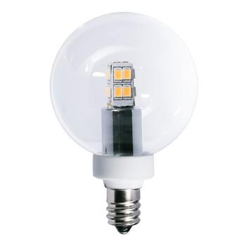 2.5W Clear E-12 LED Globe Bulb