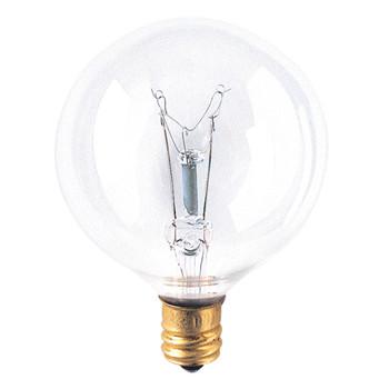 15W Clear E-12 Base 2-1/8in. Globe Bulb