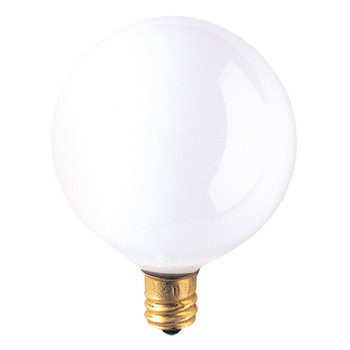 25W White E-12 Base 2-1/8in. Globe Bulb