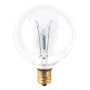 40W Clear E-12 Base 2-1/8in. Globe Bulb