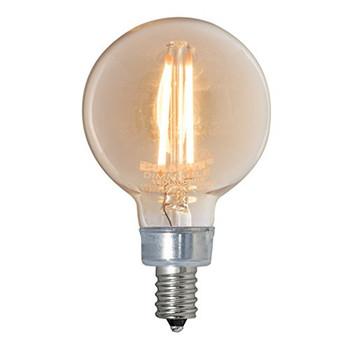 2W Antique LED E-12 Base 2in. Globe Bulb