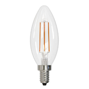 4.5W Bullet B-11 120V E12 Candelabra Screw Base Dimmable LED Filament Decorative Light Bulb