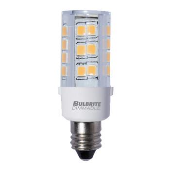 4.5 W LED Mini T4 Dimmable E12 Candelabra Screw Base  Light Bulb 3000K - Clear