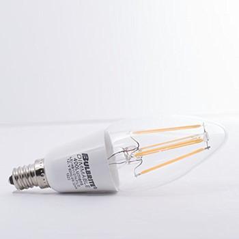 4 Watt Bullet B11 120 Volt E12 Candelabra Screw Base Clear Dimming LED Filament Decorative Lamp Bulb
