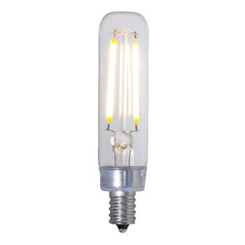 2.5W 120V T6 2700K E12 Candelabra Screw Base Decorative Filament LED Bulb - Clear Finish