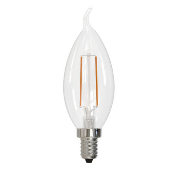2.5W LED CA10 2700K FILAMENT E12 FULLY COMPATIBLE DIMMING