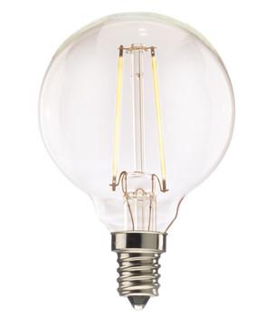 4.5W Led = 40W Incandescent E-12 Base Clear G16 Globe Bulb