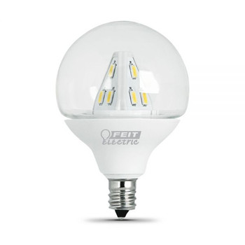 2W Clear LED E-12 Base 2in. Decorative Globe