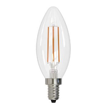 2.5 Watt Candle CA10 120 Volt E12 Candelabra Screw Base Antique Finish  Light Bulb