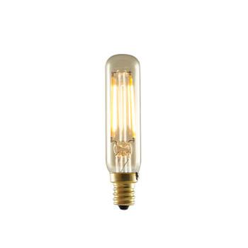 2.5W Tube T-6 120V E12 Candelabra Screw Base Clear 2200K LED Filament Decorative Light Bulb