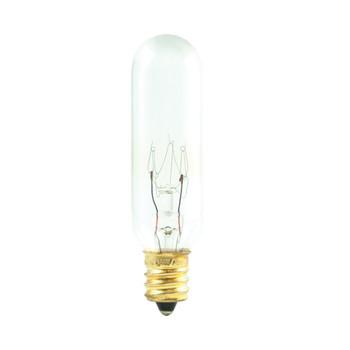 25W Clear E-12 Base T6 Tubular Bulb