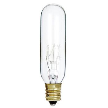 15W Clear E-12 Base T6 Tubular Bulb