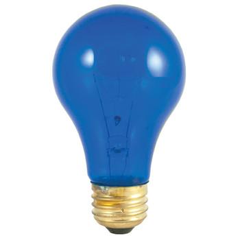 25W Blue Clear E-26 Base A-19 Party Bulb