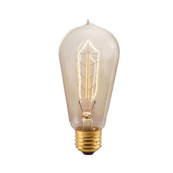40W Circa 1890 E-26 Base ST18 Antique Hairpin Bulb