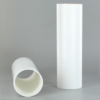 1-1/2in. O.D. x 36 in. Long Hard Plastic Candle Tubing - White