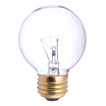 25W Clear E-26 Base 2-1/8in. Globe Bulb