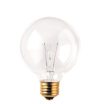 25W Clear E-26 Base 3-1/8in. Globe Bulb