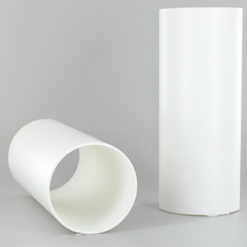 2 in.O.D. x 36 in. Long Hard Plastic Candle Tubing - White