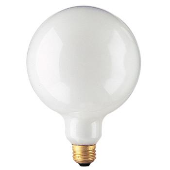 100W White E-26 Base G40 5in. Globe Bulb