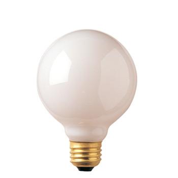 40W White E-26 Base G25 3-1/8in. Globe Bulb