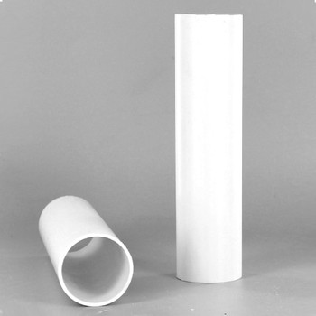 1-1/4in. O.D. x 36 in. Long Hard Plastic Candle Tubing - White