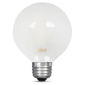 2.5W Frosted Dimmable LED E-26 Base G25 Globe Bulb