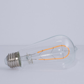4W= 40W ST-18 Style Hairpin Curved Filament Led Bulb. E-26 Base
