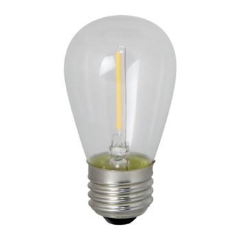 0.7W LED E26 Base S14 2700K Filament Clear