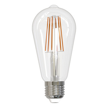 8.5W LED E-26 Base ST18 Fully Compatible Dimming 3000k Clear Bulb