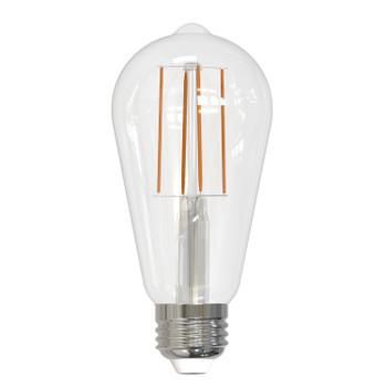 7Watt = 60W E-26 Base ST-18 Nostalgic LED Filament Bulb - Clear