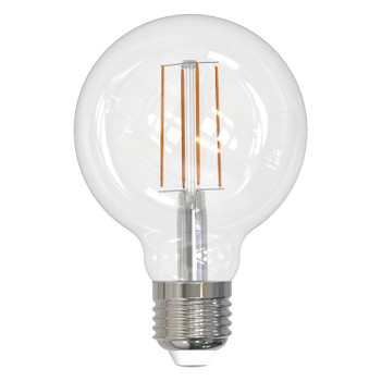 8.5W LED E26 Base G25 Globe 3000K Filament Fully Compatible Dimming Bulb - Clear