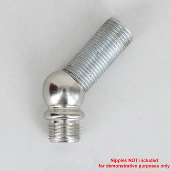 1/8ips threaded - 1/2in Diameter 45 Degree Ball Armback - Polished Nickel