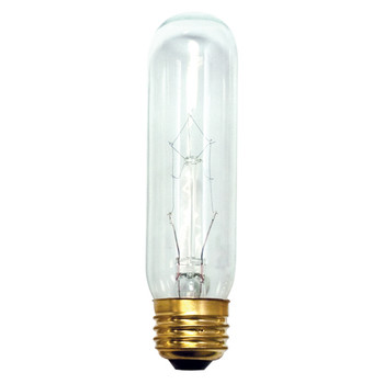 40W Clear E-26 Base T10 Tubular Bulb