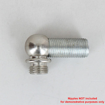 1/8ips Threaded - 1/2in Diameter 90 Degree Ball Armback - Nickel Plated
